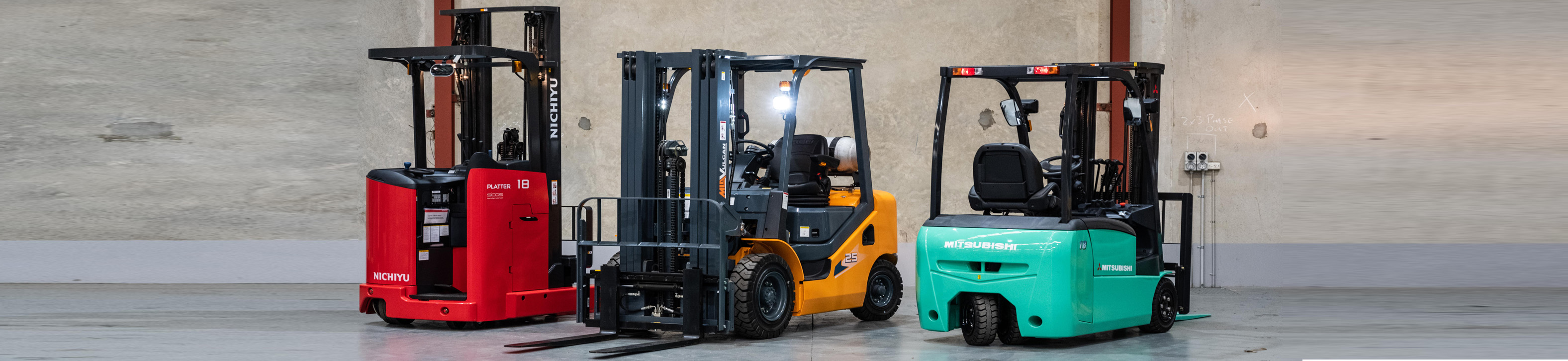 Mitsubishi and Vulcan Forklift Sales
