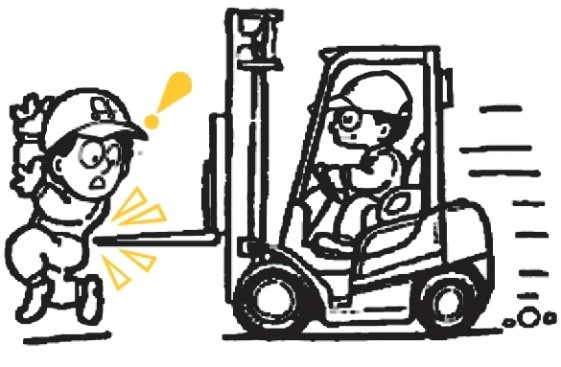 Separating Pedestrians and Forklifts